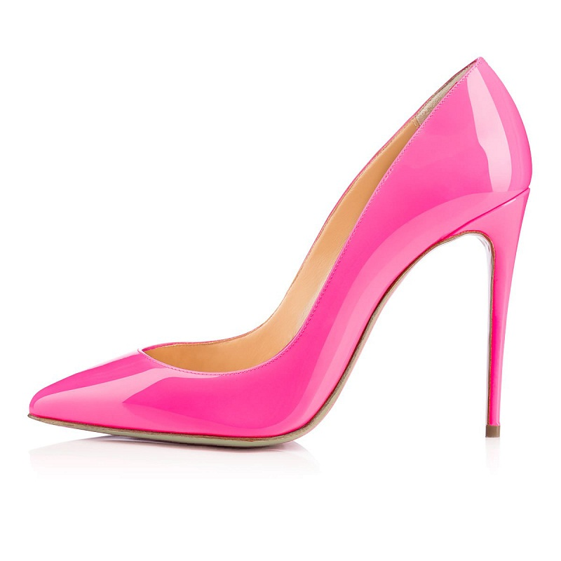 2016 Fashion Solid color wedding shoes Pointed toe slip-on women shoes high heel pumps Customize ladies pink shoes Big Size5-15 plus big size 34 47 shoes woman 2017 new arrival wedding ladies high heel fashion sweet dress pointed toe women pumps a 3