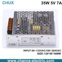 Vente directe de commutation d'alimentation 35 W 5 v 7A entrée 110 ou 220 v transformateur pour cnc led ( s-35w-5v )
