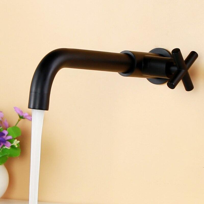 Robinet de lavabo mural robinet d'eau froide unique robinet d'évier de cuisine de salle de bains robinet d'eau de jardin robinet de piscine robinet de vadrouille