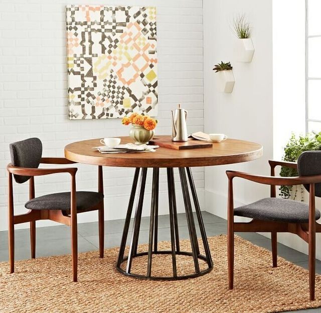 Us 1840 0 Nordic Ikea Large Round Table Continental Wood Dining Tables And Chairs All Solid Retro To Do The Old Wrought Iron Ta In Coffee