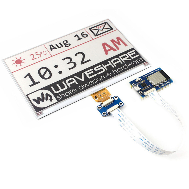 Easy Use Raw Panels WIFI Ink Screen Bluetooth Waveshare Universal E-Pape ESP32 Driver Board Internet SPI Easy Install Wireless
