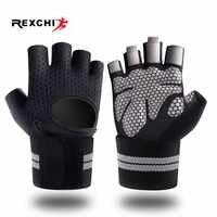 REXCHI Half Finger Gym Fitness Handschuhe mit Handgelenk Wrap Unterstützung für Männer Frauen Crossfit Workout Power Gewichtheben Ausrüstung