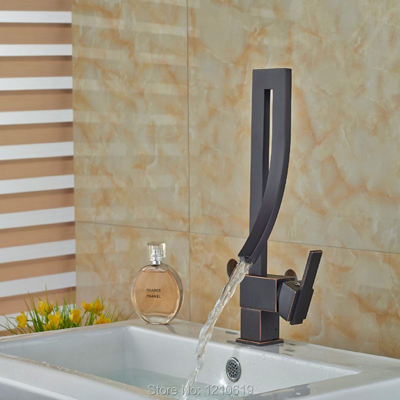 Newly  Creative Bathroom Sink Faucet Single Handle Oil Rubbed Bronze Basin Faucet Mixer Tap Deck Mounted newly solid brass oil rubbed bronze 3pcs bathroom sink basin faucet mixer tap dual ceramics handle three holes deck mounted