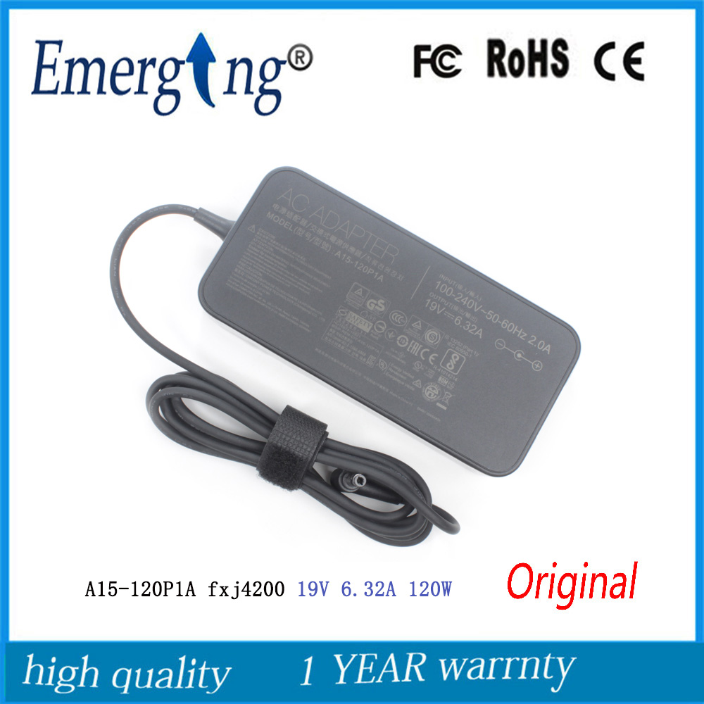 <font><b>19V</b></font> <font><b>6.32A</b></font> 5.5*2.5mm <font><b>120W</b></font> New Slim AC Original Laptop Adapter For <font><b>ASUS</b></font> N550J N56V N750 G/N53S PA-1121-28 image