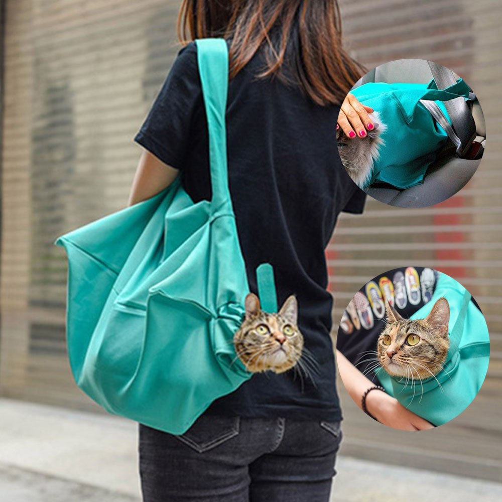 Pet Dogs Cats Outdoor Travel Bags Portable Breathable Sling Carriers Hand Free Shoulder Pet Pouch Tote Bag Small Animal Supplies