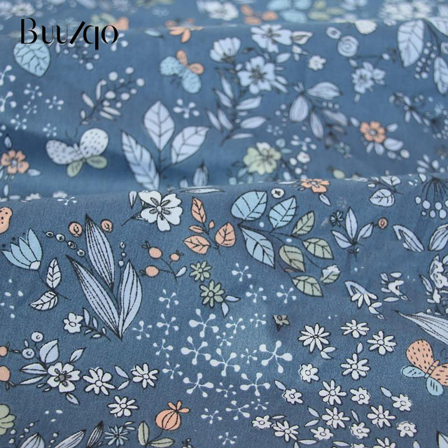 buulqo Printed Kids Cotton fabric baby quilting cotton twill fabric by meter DIY sewing craft cotton material 5