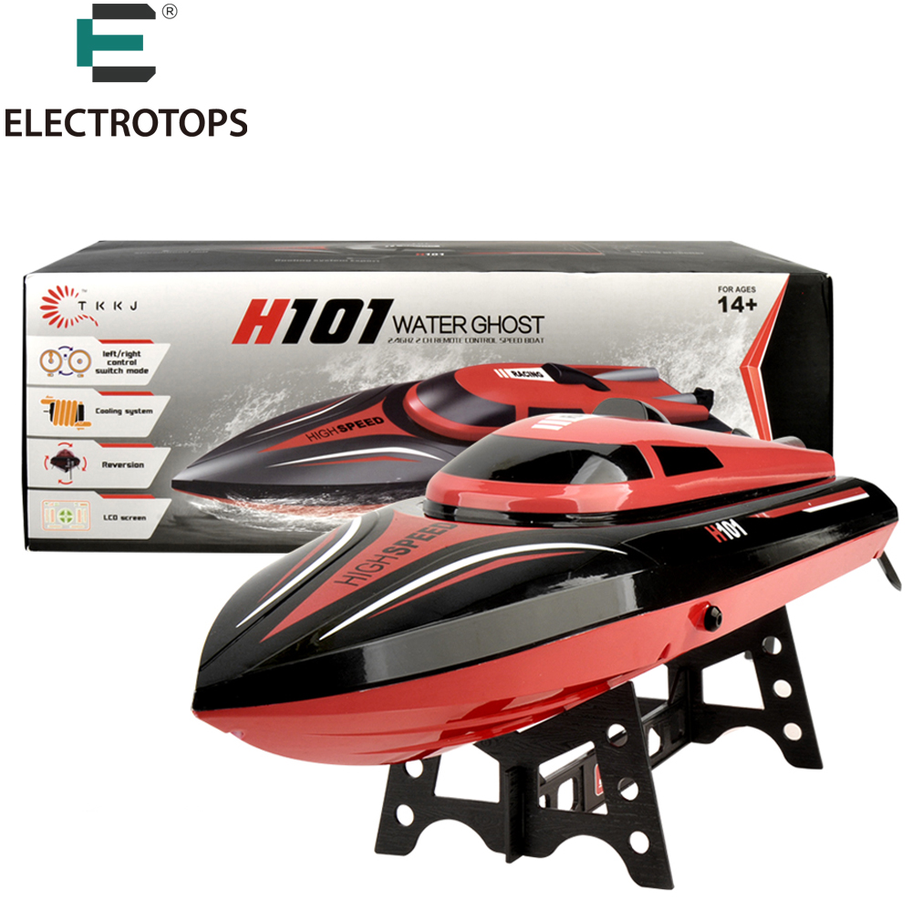 E T RC Boat H101 2 4GHz High Speed 30km hour 360 degree flip with Servo