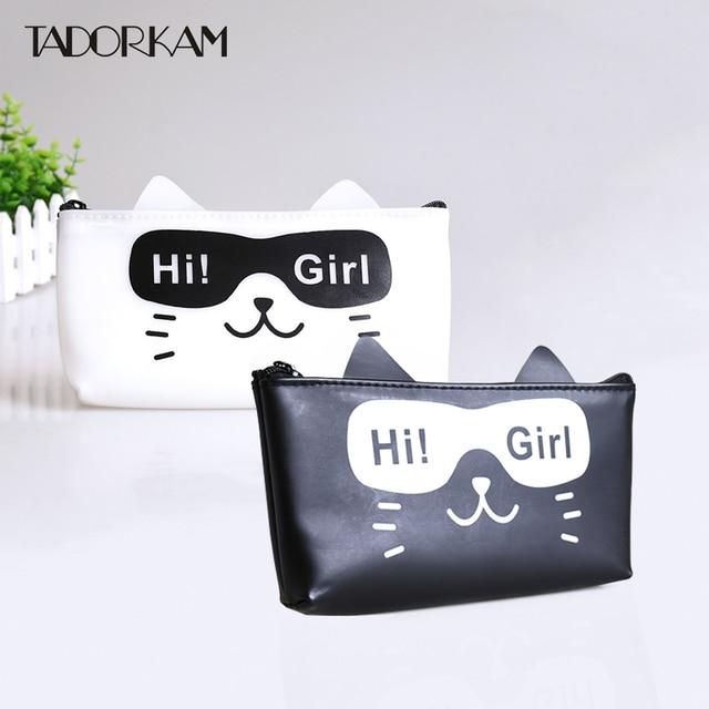 1 Pc Keren Kucing Pensil Kartun Kucing Hi Gadis Pensil Kotak Anak