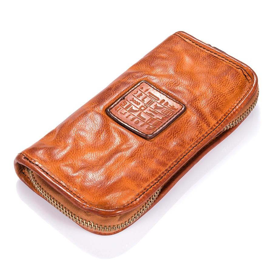 Gunuine Leather Vintage Wallet Women Coin Organizer magic Clutch wallet Zipper Credit Card Zipper Purses women wallet women s purses genuine leather clutch with large capacity for credit card cash fashion design female purses