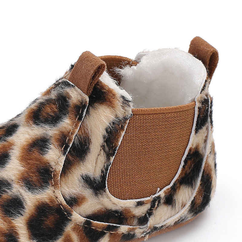 Zapatos de cuero PU recién nacido bebé corazón otoño encaje leopardo primera caminadora zapatillas zapatos niño clásico casual zapatos