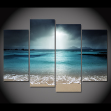 sea beach wave canvas art
