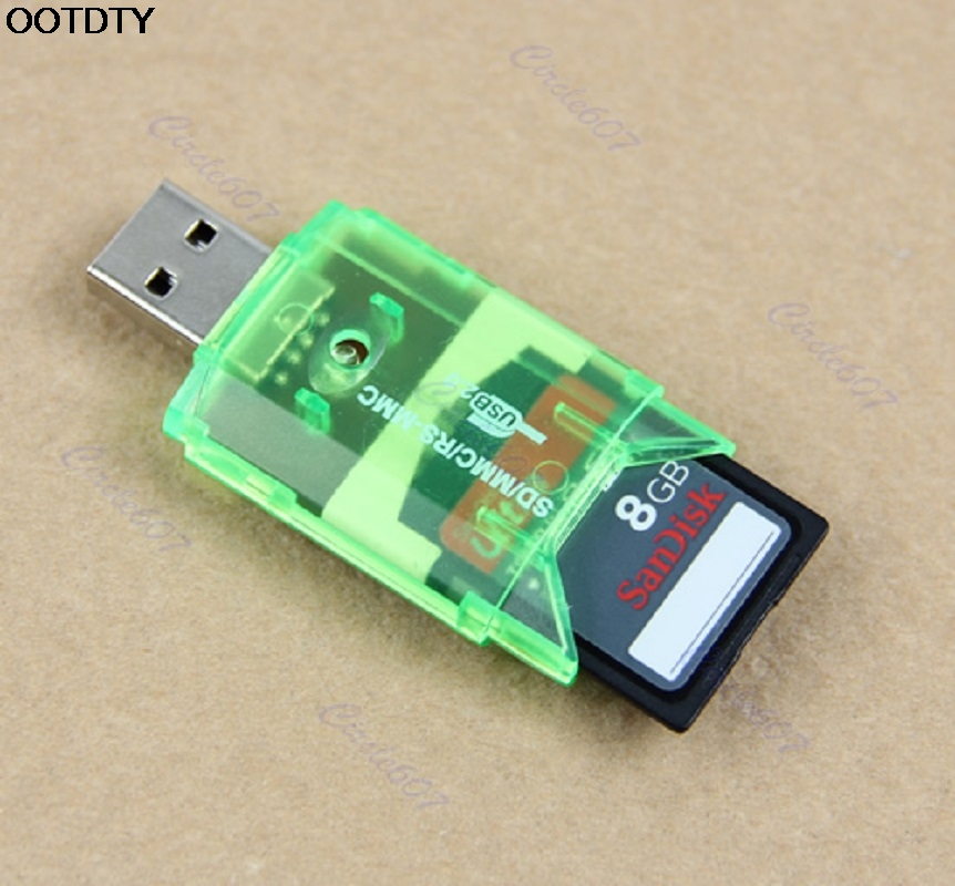 1pc USB Micro SD TF M2 SDHC Memory Stick Card Reader Adapter For PC Laptop