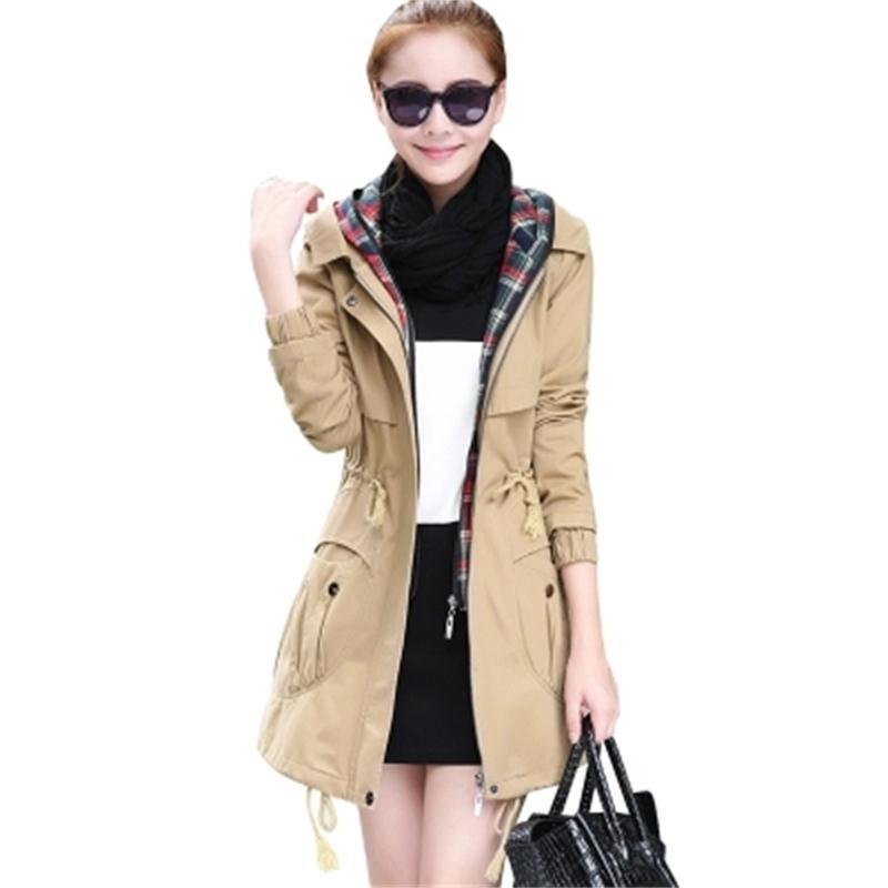 Women Jackets Autumn New Women s windbreaker Korean fashion Slim waist was thin large size temperament