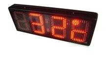 8 дюймов 4 цифры Красный времени и температуры часы (hst 4-8 R)