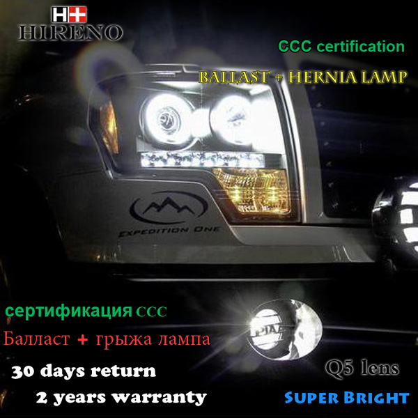 Hireno Car styling Headlamp for 2011-2014 Ford Raptor F150 Headlight Assembly LED DRL Angel Lens Double Beam HID Xenon 2pcs