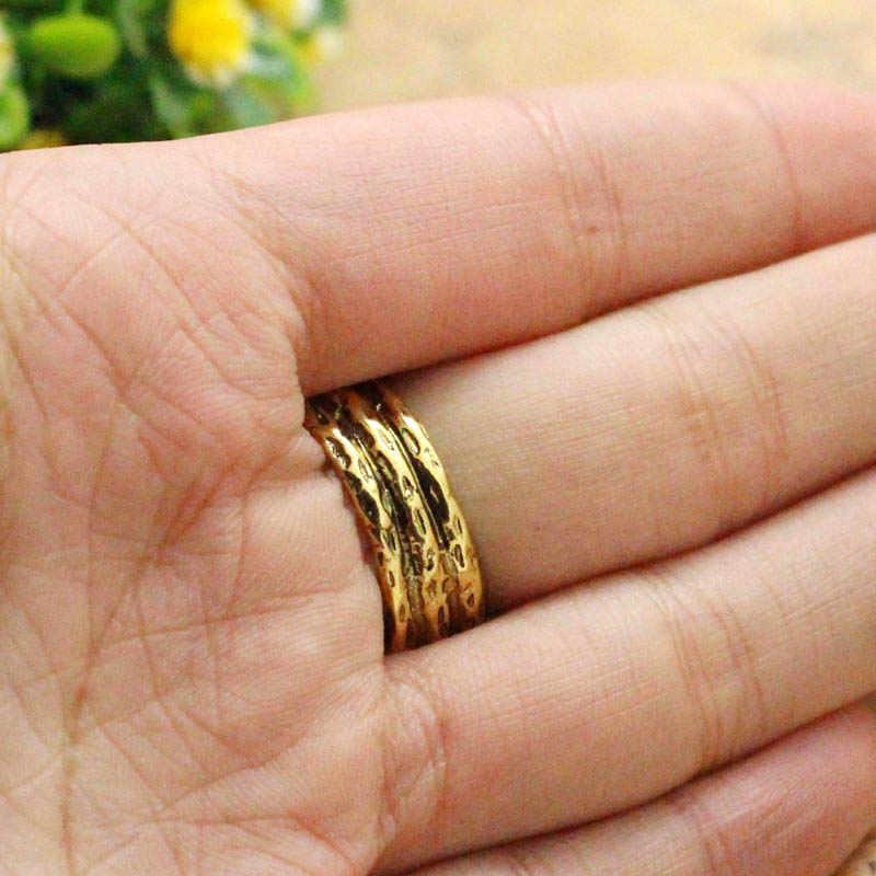 Hobbit Thranduil Cincin Ular Mirkwood Elf Raja Golden Ring Legolas Ayah Tuhan Cincin Lotr Fashion Perhiasan Fan Hadiah