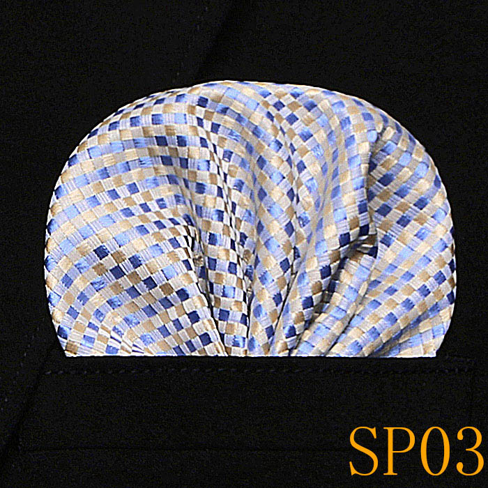 New Mens 100% Silk Handkerchief Plaids Paisley Polka Dots Pocket Squares For Suits Jackets Wedding Party pick from 60 Patterns
