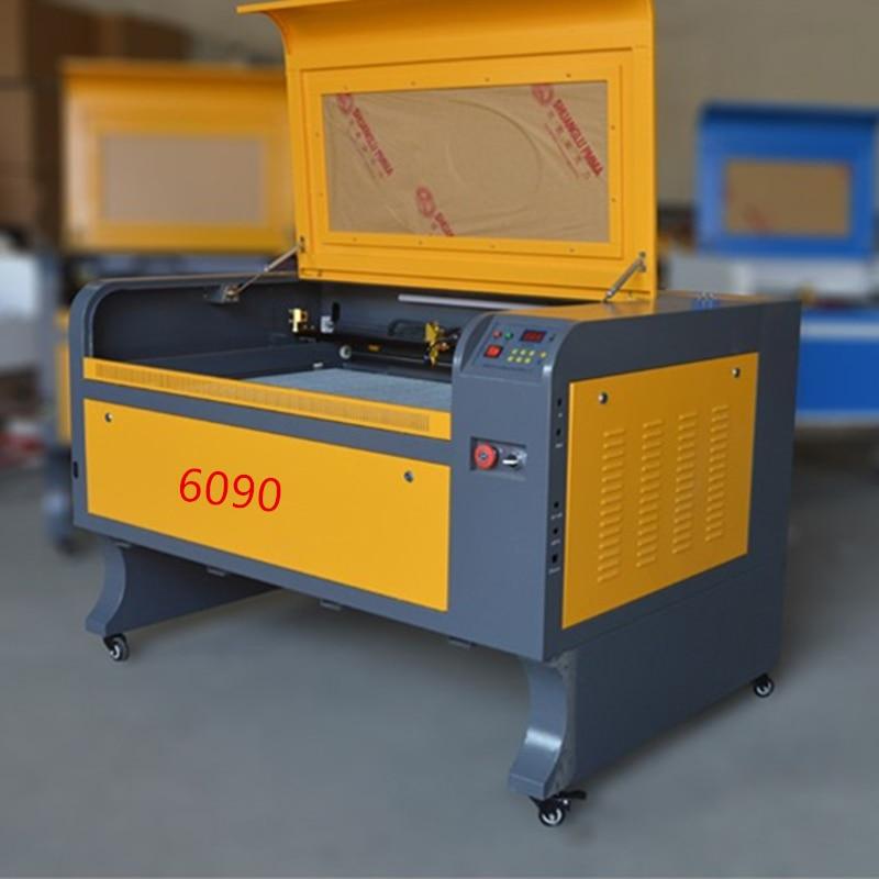 80 w livraison gratuite 6090 co2 laser graveur machine acrylique en cuir bois verre cristal laser de gravure machine de découpe CO2 laser