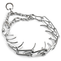 45 50 55 60cm Adjustable Dog Training Collar Chain Pet Supply Metal Steel Prong Pinch Choke