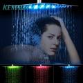 KEMAIDI 8  12  16  20  24 дюйма  светодиодная душевая головка для дождя  черная душевая головка из нержавеющей стали  ванная комната  ультра-тонкая душ...