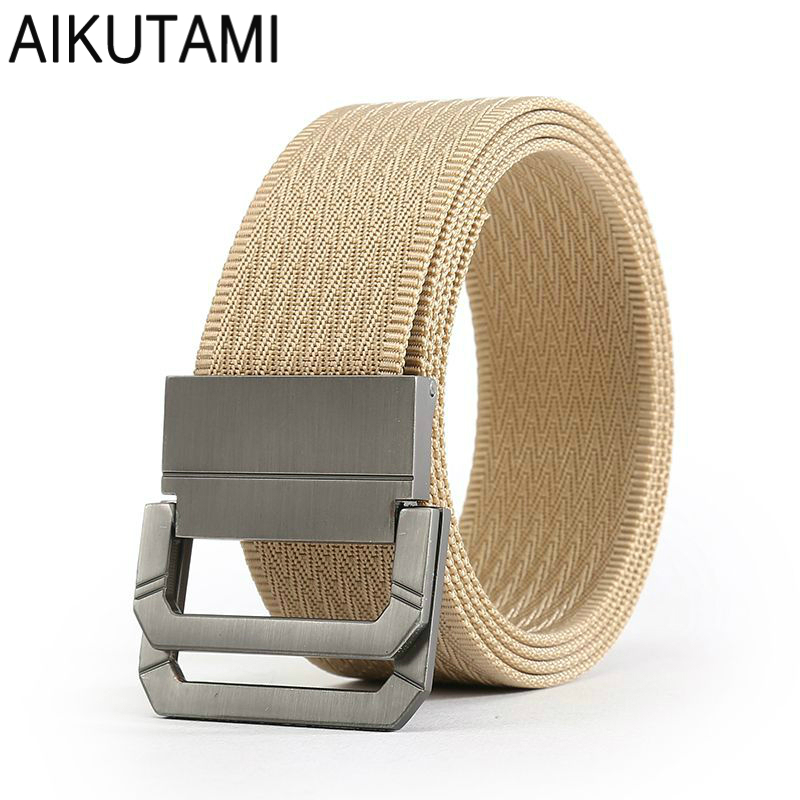 Double Aluminum Alloy Buckle Tactical Belt Outdoor Sports Non-porous Adjust Men Tactical Nylon Strap Military Equipment Gear