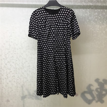 Polka Dot Dress Ladies Short Sleeve Casual 2019 Summer Fashion A-line Women