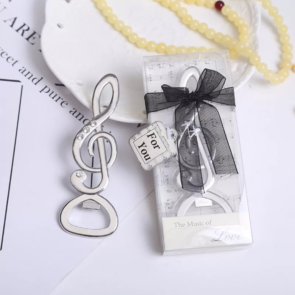Free Shipping 4pcs clef Music Bottle Opener Wedding Favors And Gifts ...