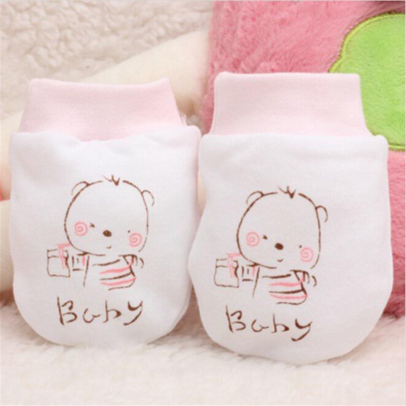 Fashion Baby Glove Cartoon Pattern Anti-grasping Gloves Newborn Protection Face Cotton Anti Scratching Gloves Newborn