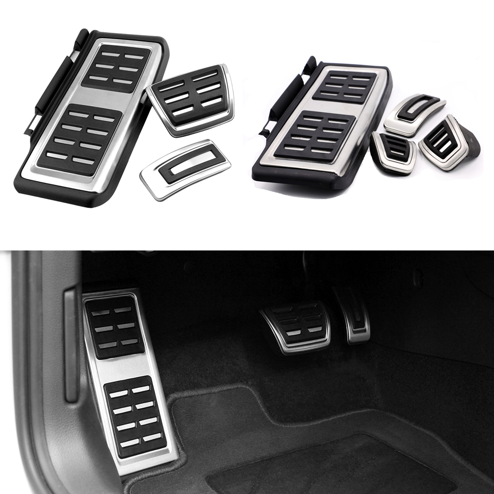 TTCR-II Car Accessories for VW Volkswagen New Tiguan 2017 AT/MT Accelerator Brake Clutch Footrest Pedal Pad,Modify Plate Sticker hot sale abs chromed front behind fog lamp cover 2pcs set car accessories for volkswagen vw tiguan 2010 2011 2012 2013