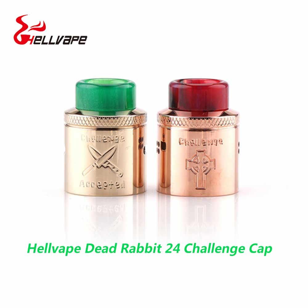 Vape Cap Hellvape Dead Rabbit 24 Challenge Cap electronic cigarette accessory 24mm hellvape dead rabbit BF RDA with drip tip hellvape dead rabbit rda