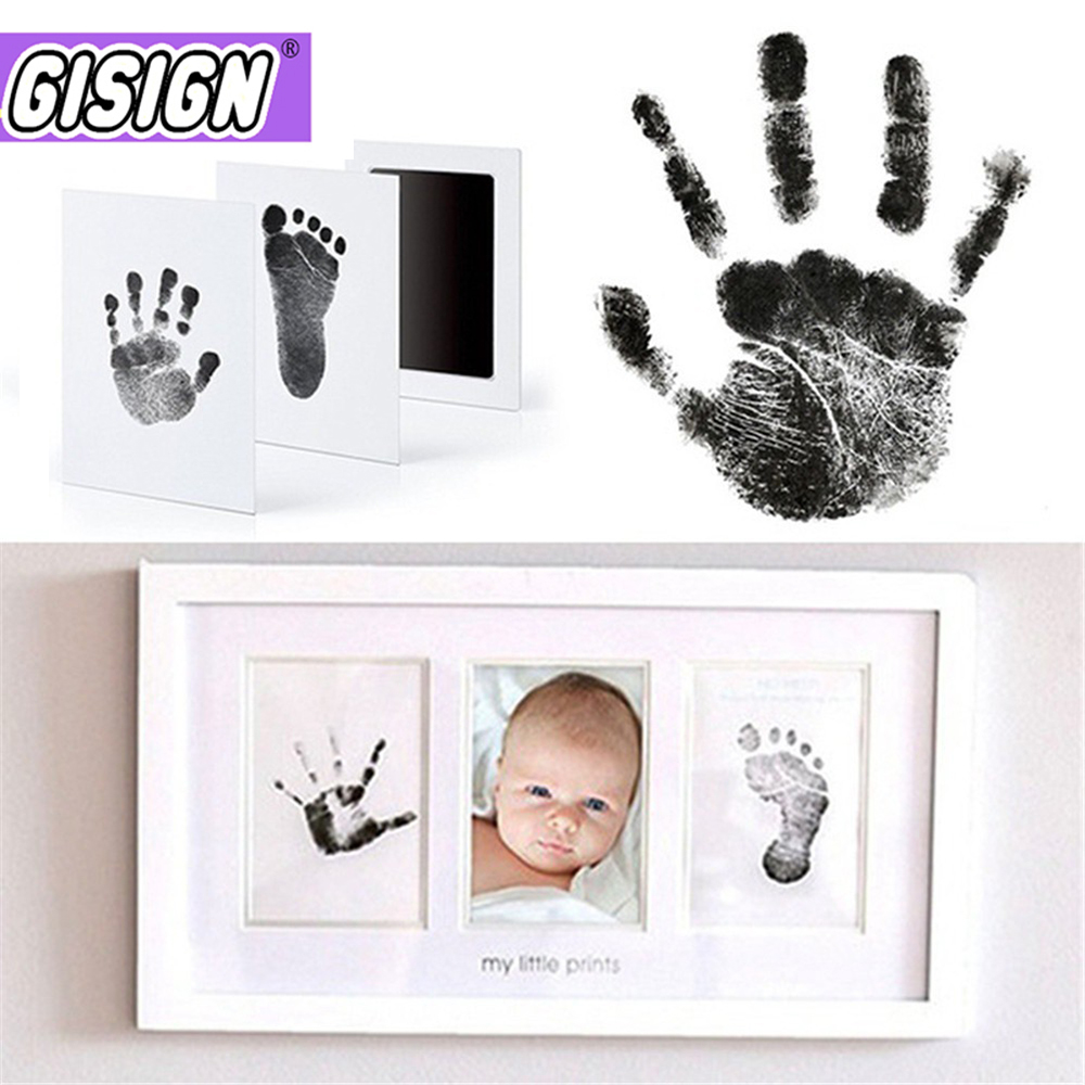 Baby Handprint Footprint Air Dry Clay Imprint Hand Inkpad Foot Souvenirs Casting Newborn Print Ink Pad Infant Toy Gift
