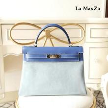 2017 Cowhide luxury brand runway women tote handbag ,100%handmade top quality CL702156