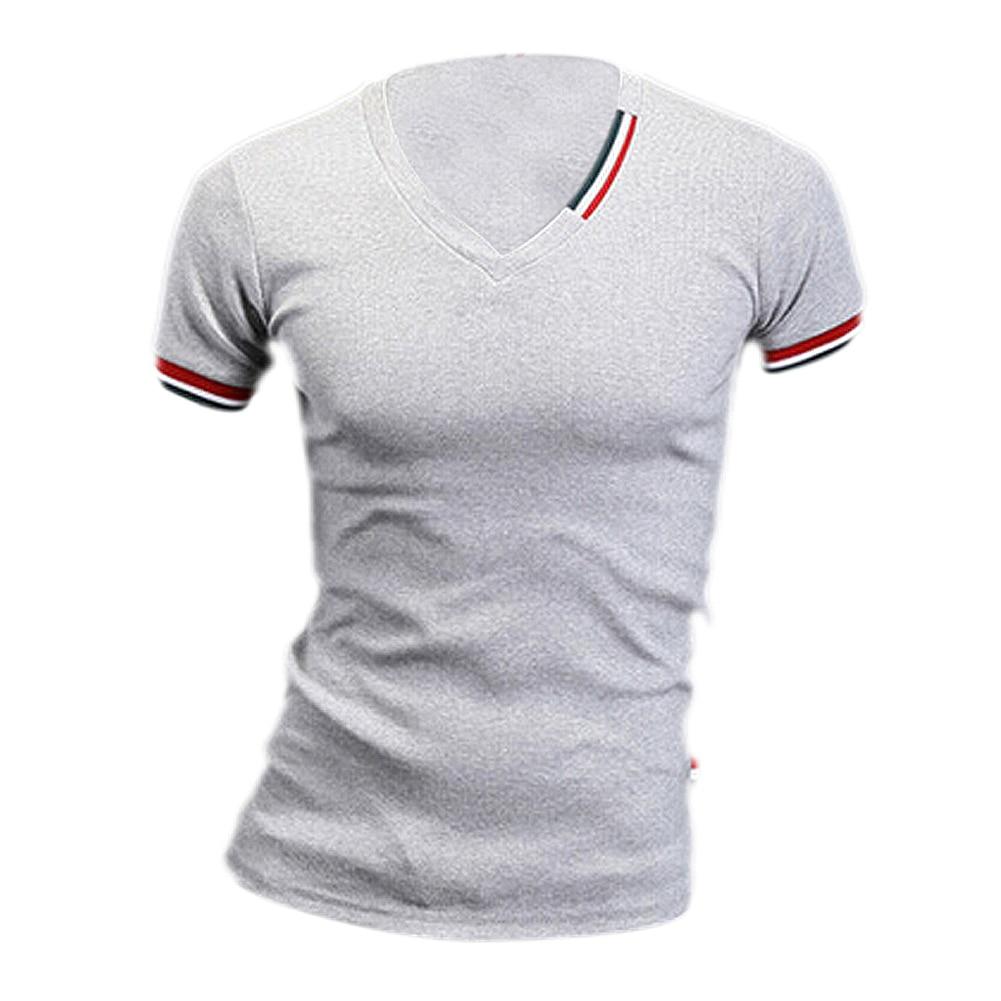 Men 39 s tops tees 2016 summer new cotton v neck short sleeve for 100 cotton v neck t shirts wholesale