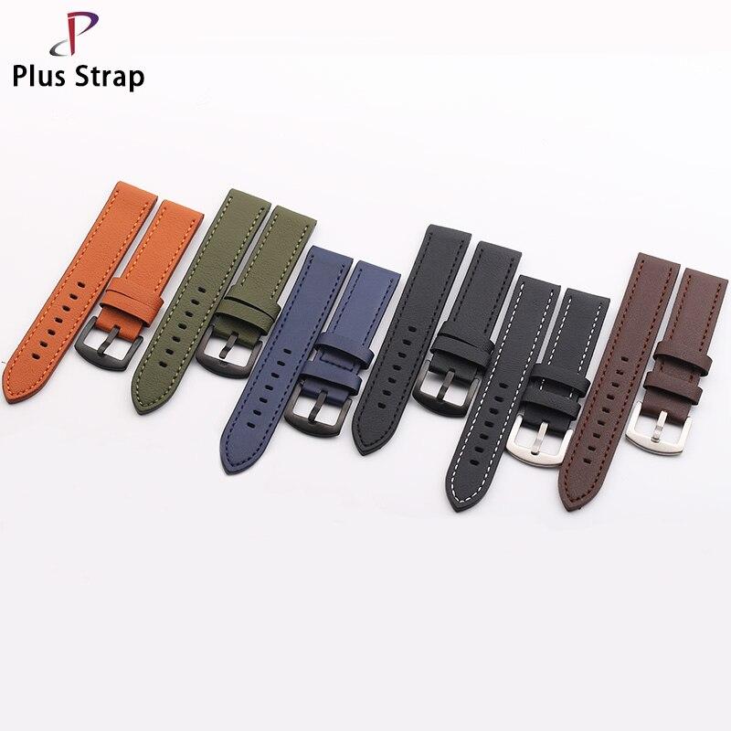 Plus correa de moda Retro cinturón de cuero 20 22mm adecuado para hombres y mujeres reloj correa para reloj resistente al agua banda