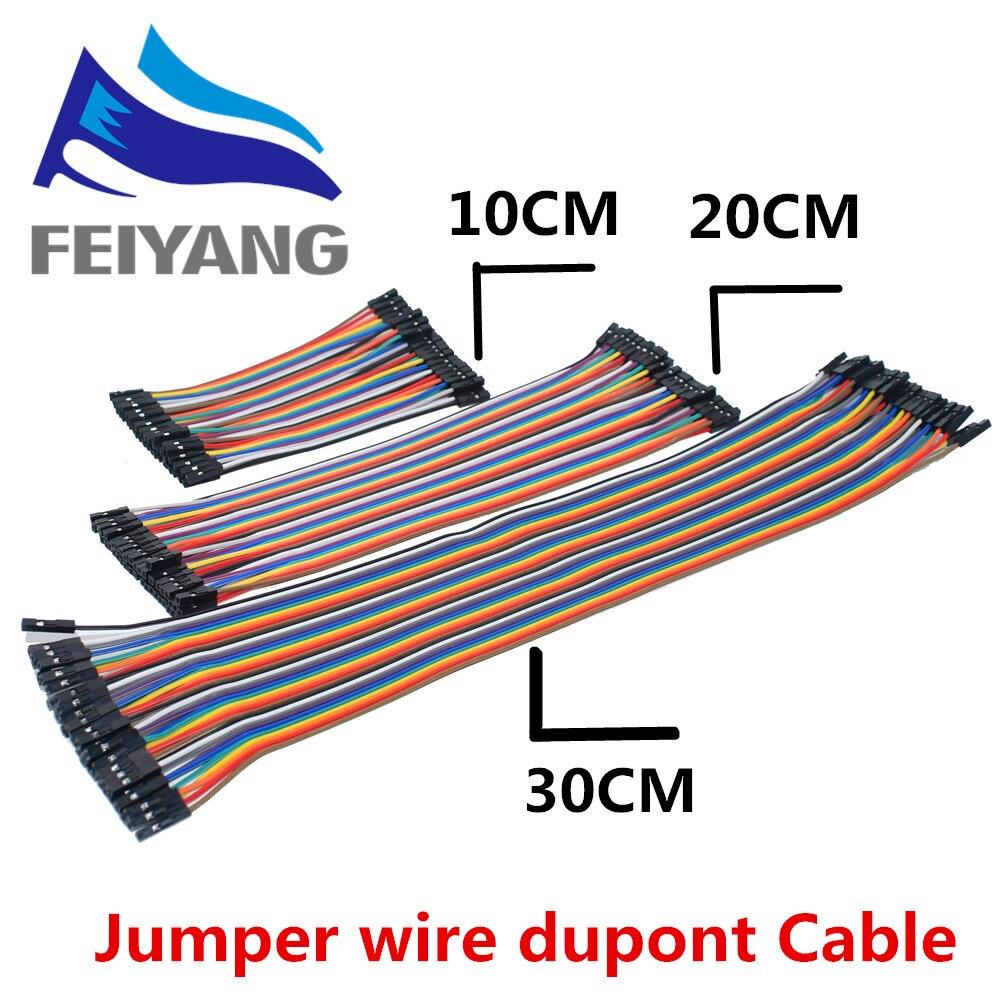 400pcs/lot 10x40pcs Dupont Cable/Line 10cm/20cm/30cm 2.54mm Male To Male Or Male To Female Or Female To Female Jumper Wire