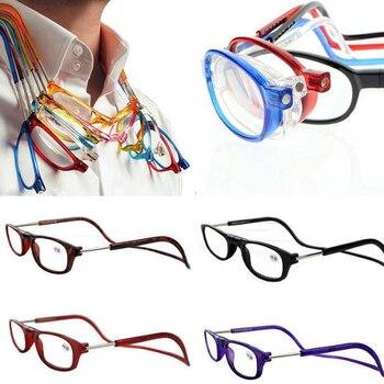 a067dc9c7b Gafas de lectura con imán Unisex plegables iboode para hombres y mujeres  con cuello colgante ajustable
