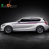 جسم السيارة الديكور الخصر خط اللون شريط الرسم الزهور ملصقات السيارات لسيارات bmw 1 سلسلة 116i 118i 120i سيارة-التصميم