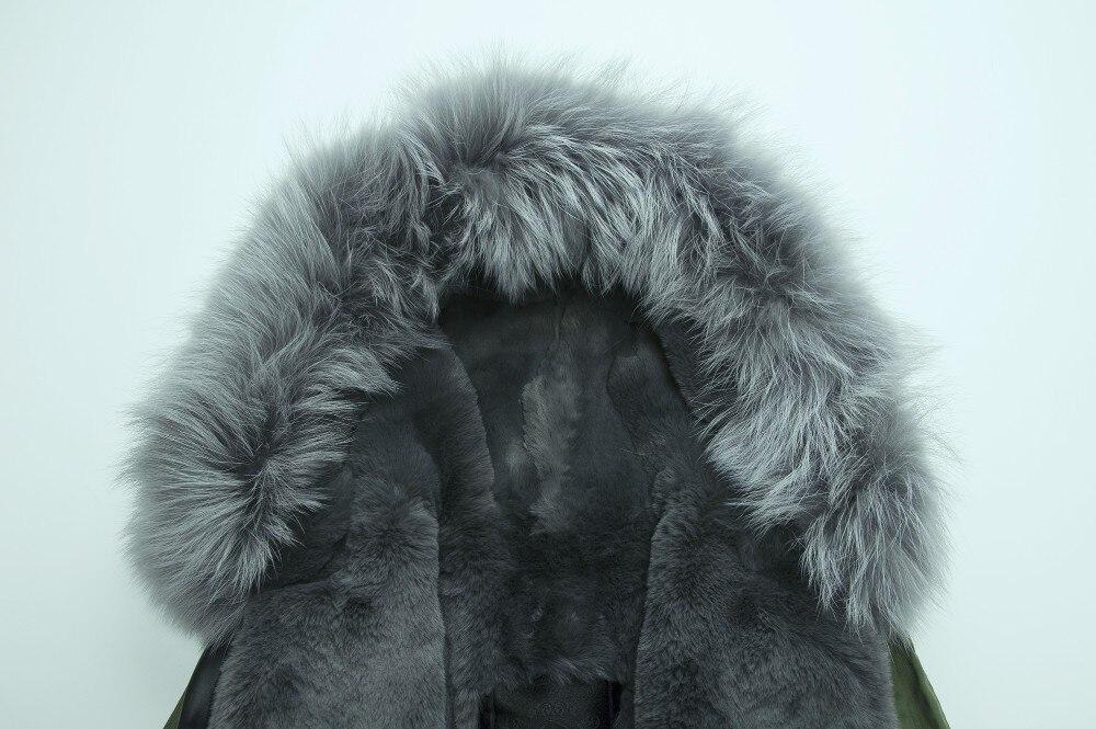 Зимнее меховое пальто в стиле милитари с капюшоном, серое меховое пальто для мужчин, парка с меховым капюшоном