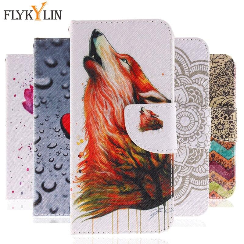FLYKYLIN For Fundas Huawei Honor 10 Case Luxury Leather Phone Cases For Huawei Honor 10 Case Cover Cartoon Wolf Flip Wallet Capa