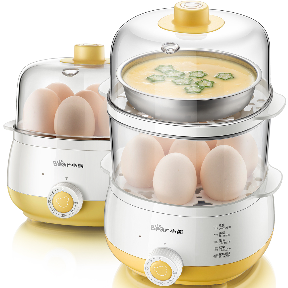 Multi Egg Boiler Double Layer Timing Automatic Power-off of Large Capacity Mini Steamer Egg Custard Multi Cooker bear multi egg boiler double layer timing automatic power off of large capacity mini steamer egg custard multi cooker