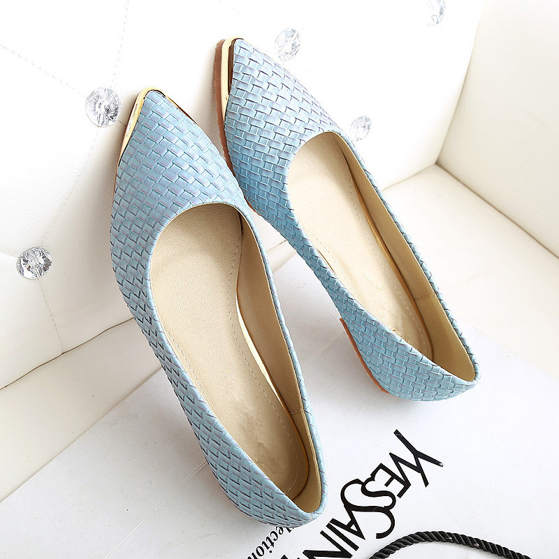 Flats Woman 2016 New Arrival Metal decoration Pointed toe Women Shoes High Quality Comfortable Flat Shoes Size 35-43 fashion women shoes woman flats high quality comfortable pointed toe rubber women sweet flats hot sale shoes size 35 40