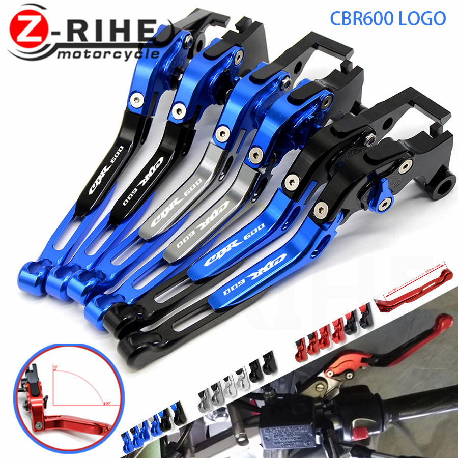 LOGO CBR For HONDA CBR 600 CBR600 F2,F3,F4,F4i 1991-2007 1992 1993 1994 1995 Motorcycle Folding Extendable Brake Clutch Levers