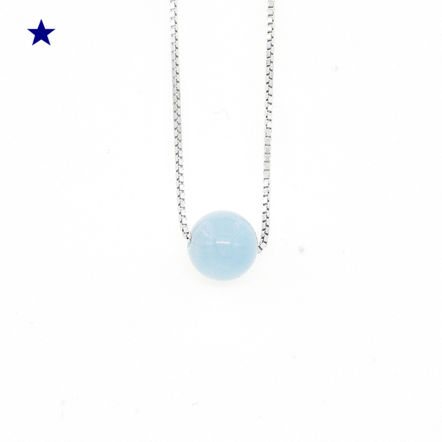 Brooke Kobloth's Star March Birth Stone Chokers Necklaces 925 Sterling Silver Na