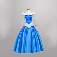 New Arrival for Movie Sleeping Beauty Princess Aurora Blue Dresses Fancy Adult Dress Cosplay Costume