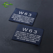 Clothing-Tags Custom Brand Hat/bags Woven Embroidered Personal with Cut Fold 1000pcs