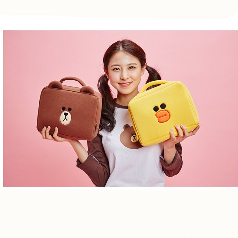 2017 New Fashion Hot Sale Pattern Korea fashion Lovely Brown Bear Cosmetic Bag Travel Cosmetic Bag Travel Wash Pouch Jewelry Bag mh006 women cosmetic cases 18 5 11cm fashion ms clutch korea cute wash satin pouch handbag bag printing love package