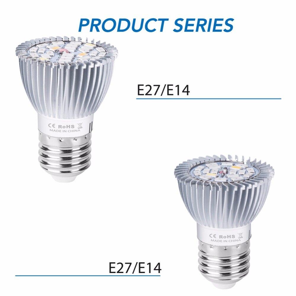 E27 LED Grow Light Full Spectrum 18W Plant Lamp 28W Fito Led Lamp E14 Growing Light For Plants LED UV Bulb Seedling Grow Tent in LED Grow Lights from Lights Lighting