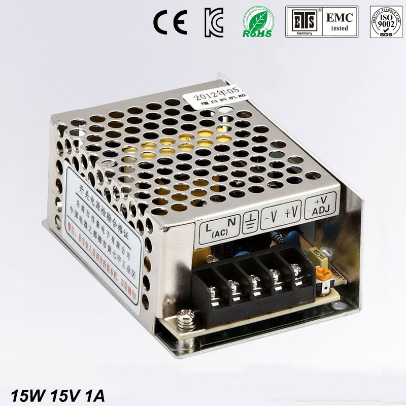 Small Volume Single Output mini size Switching power supply MS-15-15 15W15V 1A ac dc converter