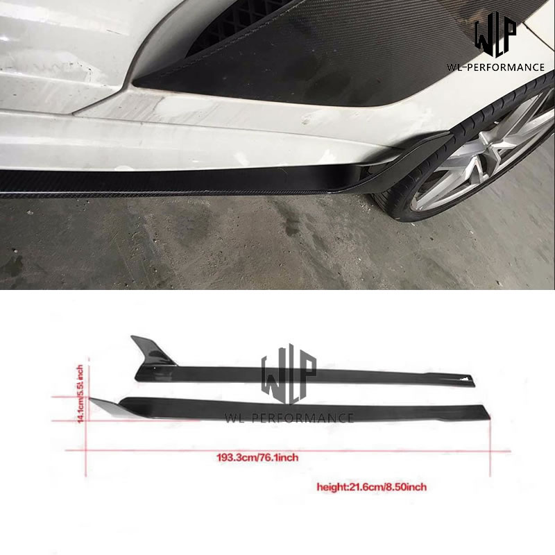 Para Audi R8 V8 V10 JSK Style kit Car body faldas laterales delantales extensiones de alta calidad fibra de carbono Car styling