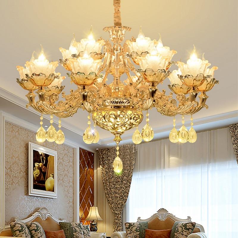 Modern Crystal Chandelier Lighting Luxurious Living Room LED Crystal Chandelier Restaurant Flush Mount Modern Crystal Lighting